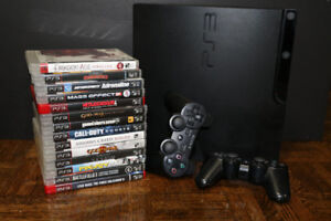 PS3 Slim 320 GB with 14 Games