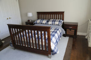 Convertible crib with other furniture