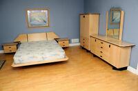 Mobilier de chambre à coucher (set de chambre) complet