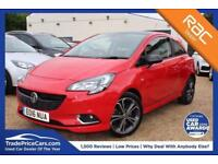 2016 16 VAUXHALL CORSA 1.4 RED EDITION S/S 3D 148 BHP