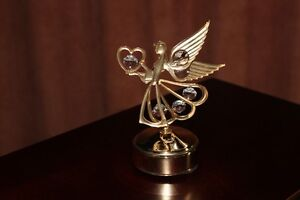 Lovely Angel With Wings Music Box  Crystals Rotates Kingston Kingston Area image 5