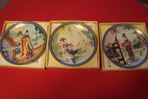 decorative asian ZHAO HUIMIN RED MANSION PLATEs Kingston Kingston Area image 1