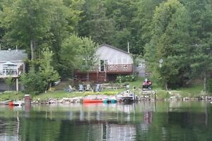 All year round waterfront cottage for sale on Oak Lake.