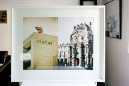 Large White Decorative Frame (100cm x 85cm) Elizabeth Bay Inner Sydney Preview