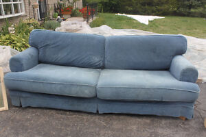 Blue Sofa with Washable Covers