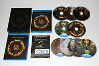 9X BLU RAY-THE LORD OF THE RINGS-COMPLETE-THEATRICAL-FILM/MOVIE