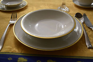 Dining set, Bavaria gold trim fine china . Estate sale  $175