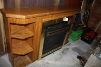 NATURAL GAS FIREPLACE INSERT, MANTLE, & VENT PIECES