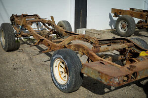 1960 Willys Jeep FC170 Frame and Differentials