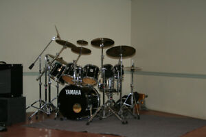 Yamaha PowerV Drum Kit and accessories