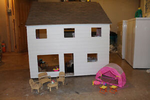 Hand made doll house and furniture
