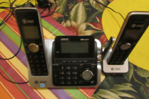 Two Landline Phones and Answering Machine
