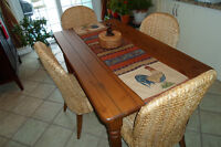 Harvest Table with Banana Leaf Chairs - Pier 1 Imports
