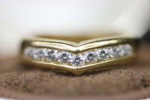 Yellow Gold 14k Diamond Wedding Ring (#14456)