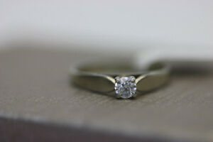 14k White Gold Engagement Ring (#15383)