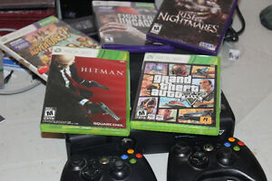 XBOX 360 Console with 5 games and Xbox Kinect
