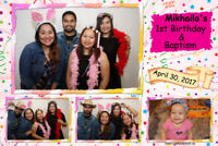 Open photo booth - with beautiful dye-sublimation prints!