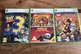 Xbox 360 4 games, TOY STORY, KUNG FU PANDA, LEGO INDIANA JONES and LEGO INDIANA JONES 2