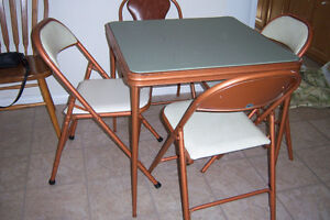 Small Card Table with 4 chairs