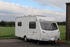 2007 Lunar Stellar Touring Caravan With Almost New Inflatable Awning And Electric Mover.