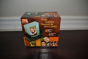 Brand New in box - 4 Glass Photo Coasters (retail $35)