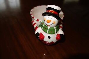 Christmas! Snowman candy dish and pate serving dish with knife Kingston Kingston Area image 1