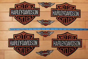 Harley Davidson Iron on Crest
