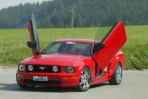 LSD Doors Lambo Style for Ford Mustang S197 Vertical Door Kit 50
