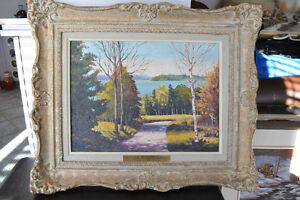 VINTAGE OIL ON BOARD LANDSCAPE PAINTING 23 X 20 INCHES