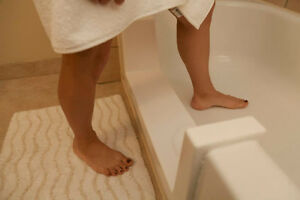WALK-IN BATHTUB STEP CUTTING CONVERSION