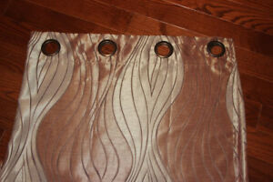 Floor Length 2-toned brown curtains