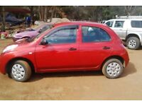 Nissan micra 1.2 2007 red breaking