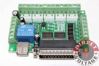 5 Axis Cnc Interface Adapter Breakout Board For Stepper Motor Driver Mach3 Wusb
