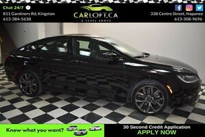 2015 Chrysler 200 S - LOW KMS**HEATED LEATHER**BACKUP CAMERA
