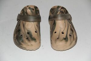 Kids Camo CROCKS. Worn 3 times. Size 35