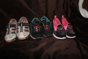 Girls shoe lot - size 5t, 6t , 7t and 10