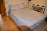 Queen Size Boxspring and Mattress