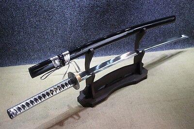 Japanese Handmade Silver Warrior 9260 Spring Steel Katana Samurai Sword for sale  Shipping to United States