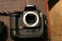 Pentax K20d Digital SLR with battery grip