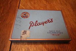 PLAYERS NAVY CUT MILD CIGARETTE TOBACCO TIN