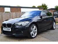 2013 BMW 1 SERIES 118D M SPORT 5 DOOR BLACK AUTOMATIC HATCHBACK DIESEL