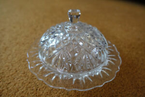 Vintage butter dish  prescut early american