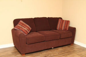 LAZ-Boy Hide-a-Bed Couch, Chocolate Brown