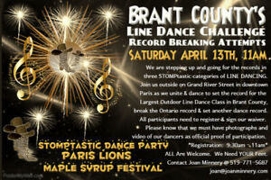 Brant County's Largest Line Dance Challenge & Record Attempt