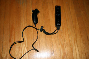 Black wii motion plus remote with nunchuck
