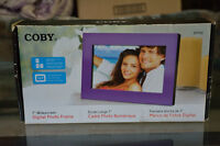 """Digital Picture Frame 7"""" Coby with 2GB Memory Card"""