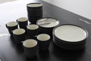 Noritake Sierra Graphite STONEWARE Dinnerware Set