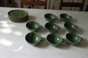 Soup Bowls/Cups with Saucers