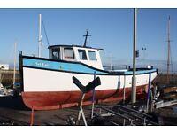 Carvel construction pleasure boat