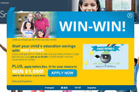 Apply for your child's FREE education money and you could WIN!